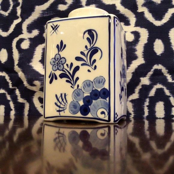 Vintage Delft Blue Vase Hand-Painted Blue & White
